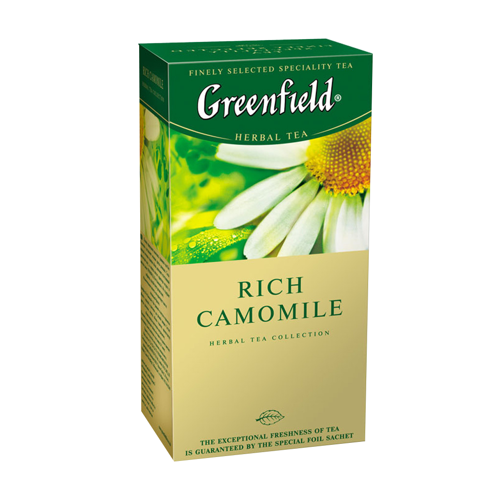 Чай GREENFIELD Rich Camomile herbal tea, Россия, пакет., 1,5 г.*25шт,картон