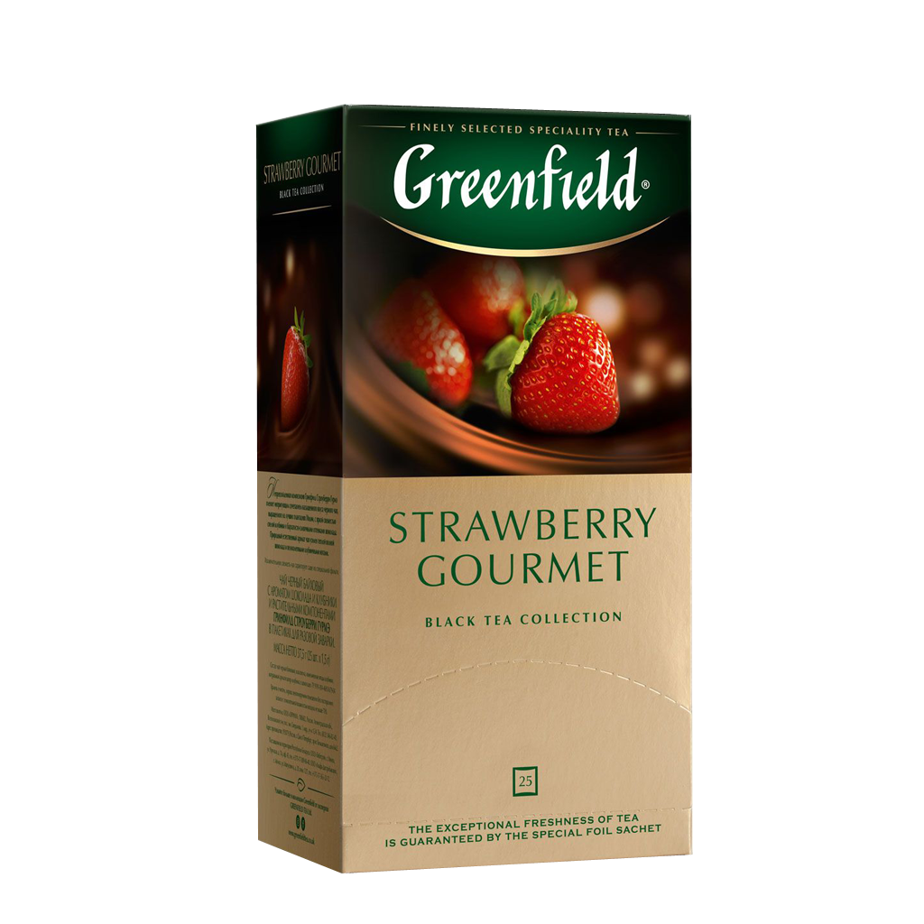 Чай GREENFIELD Strawberry Gourment черный, 2г*25 шт
