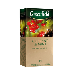 Чай GREENFIELD Currant and Mint черный, 1,8г*25 шт